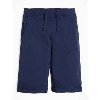 衣服 男孩 短裤&百慕大短裤 Guess L93Q25-K5WK0-C765 海蓝色