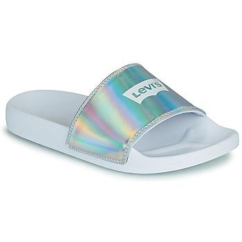 鞋子 女士 拖鞋 Levi's 李维斯 JUNE BATWING S 银灰色