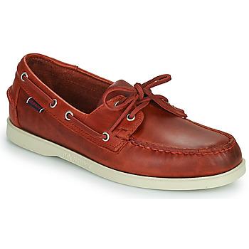 鞋子 男士 船鞋 Sebago 仕品高 PORTLAND WAXED 红色