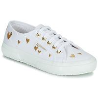 鞋子 儿童 球鞋基本款 Superga 2750 COTJEMBROIDERY LAMEHEARTS 白色 / 金色