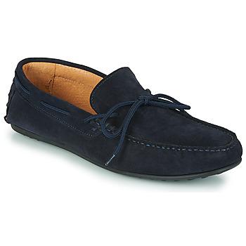 鞋子 男士 皮便鞋 Selected 思莱德 SERGIO DRIVE SUEDE 海蓝色