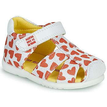 鞋子 女孩 凉鞋 Agatha Ruiz de la Prada 阿嘉莎·鲁兹·德 HAPPY 白色 / 红色