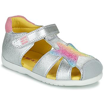 鞋子 女孩 凉鞋 Agatha Ruiz de la Prada 阿嘉莎·鲁兹·德 HAPPY 银灰色