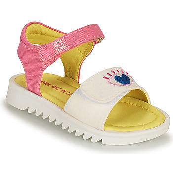 鞋子 女孩 凉鞋 Agatha Ruiz de la Prada 阿嘉莎·鲁兹·德 SMILEY 白色 / 玫瑰色