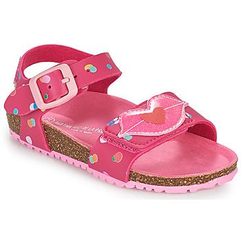 鞋子 女孩 凉鞋 Agatha Ruiz de la Prada 阿嘉莎·鲁兹·德 BIO 玫瑰色