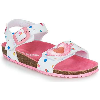 鞋子 女孩 凉鞋 Agatha Ruiz de la Prada 阿嘉莎·鲁兹·德 BIO 白色