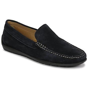 鞋子 男士 皮便鞋 Lumberjack LEMAN 海蓝色