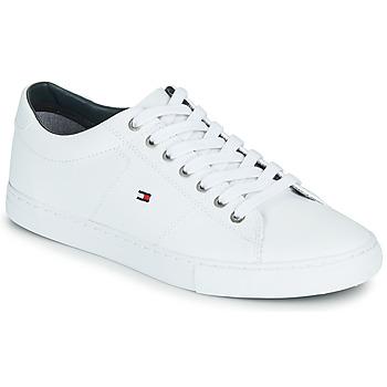 鞋子 男士 球鞋基本款 Tommy Hilfiger ESSENTIAL LEATHER SNEAKER 白色