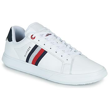 鞋子 男士 球鞋基本款 Tommy Hilfiger ESSENTIAL LEATHER CUPSOLE 白色