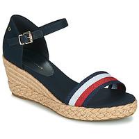鞋子 女士 凉鞋 Tommy Hilfiger SHIMMERY RIBBON MID WEDGE SANDAL 海蓝色