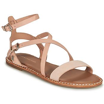 鞋子 女士 凉鞋 Tommy Hilfiger ESSENTIAL TOMMY FLAT SANDAL 棕色