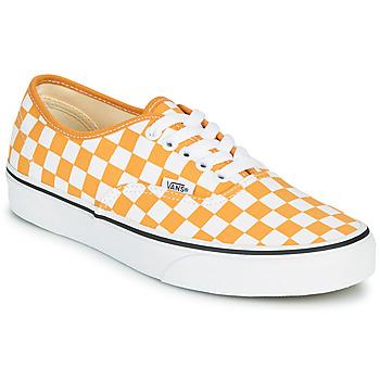 鞋子 女士 球鞋基本款 Vans 范斯 AUTHENTIC 黄色
