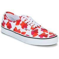 鞋子 女士 球鞋基本款 Vans 范斯 AUTHENTIC 白色 / 红色