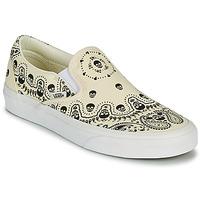 鞋子 平底鞋 Vans 范斯 CLASSIC SLIP ON 米色 / 黑色
