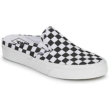 鞋子 休闲凉拖/沙滩鞋 Vans 范斯 CLASSIC SLIP ON MULE 黑色 / 白色