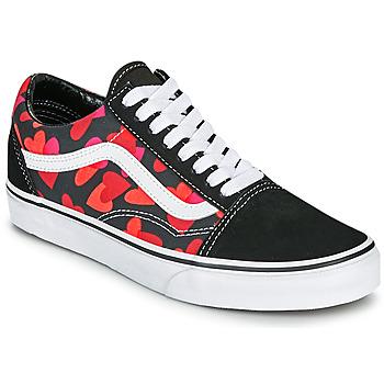 鞋子 女士 球鞋基本款 Vans 范斯 OLD SKOOL 黑色 / 红色