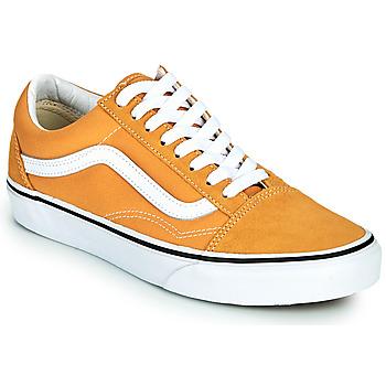 鞋子 女士 球鞋基本款 Vans 范斯 OLD SKOOL 黄色
