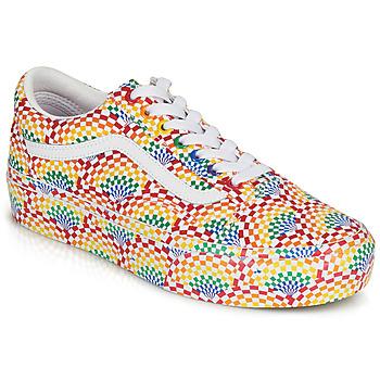 鞋子 女士 球鞋基本款 Vans 范斯 OLD SKOOL PLATFORM 多彩