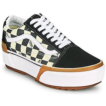 鞋子 女士 球鞋基本款 Vans 范斯 OLD SKOOL STACKED 黑色 / 白色