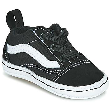 鞋子 儿童 球鞋基本款 Vans 范斯 OLD SKOOL CRIB 黑色 / 白色