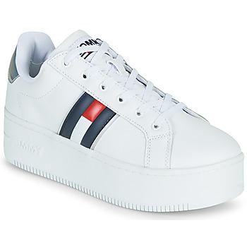 鞋子 女士 球鞋基本款 Tommy Jeans IRIDESCENT ICONIC SNEAKER 白色