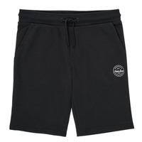 衣服 男孩 短裤&百慕大短裤 Jack & Jones 杰克琼斯 JJI SHARK JJSWEAT 黑色