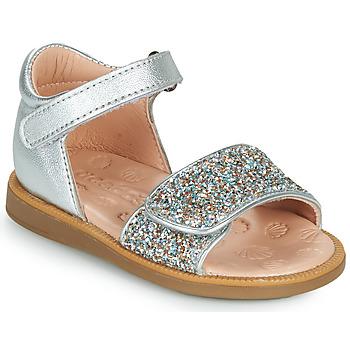 鞋子 女孩 凉鞋 Acebo's 1232-PLATA 银灰色