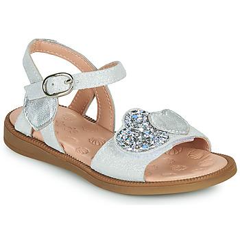 鞋子 女孩 凉鞋 Acebo's 5500SU-BLANCO 白色 / 银灰色