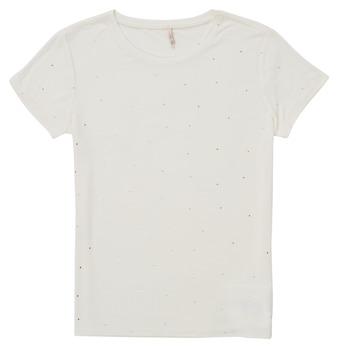 衣服 女孩 短袖体恤 Only KONMOULINS 白色