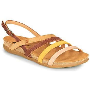 鞋子 女士 凉鞋 El Naturalista ZUMAIA 棕色 / 黄色 / 玫瑰色