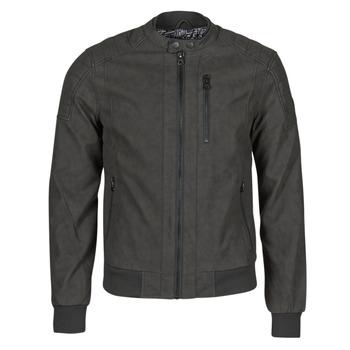 衣服 男士 皮夹克/ 人造皮革夹克 Kaporal KYRO 黑色
