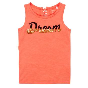 衣服 女孩 无领短袖套衫/无袖T恤 Name it NKFFASAI 珊瑚色
