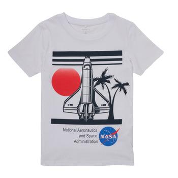 衣服 男孩 短袖体恤 Name it NASA 白色