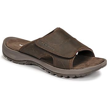 鞋子 男士 休闲凉拖/沙滩鞋 Merrell 迈乐 SANDSPUR II SLIDE 棕色
