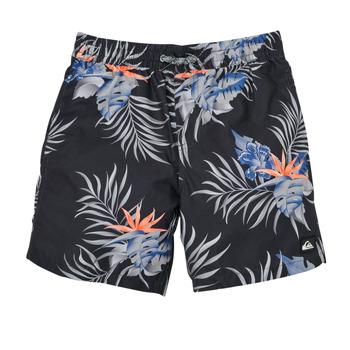 衣服 男孩 男士泳裤 Quiksilver 极速骑板 PARADISE EXPRESS 15 黑色