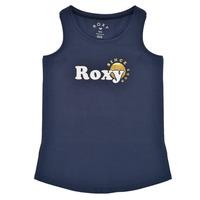 衣服 女孩 无领短袖套衫/无袖T恤 Roxy 罗克西 THERE IS LIFE FOIL 海蓝色