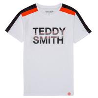 衣服 男孩 短袖体恤 Teddy Smith 泰迪 史密斯 T-MACK 白色