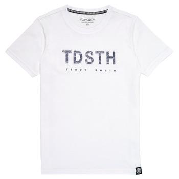 衣服 男孩 短袖体恤 Teddy Smith 泰迪 史密斯 T-MAX 白色