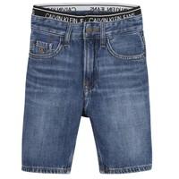 衣服 男孩 短裤&百慕大短裤 Calvin Klein Jeans AUTHENTIC LIGHT WEIGHT 蓝色