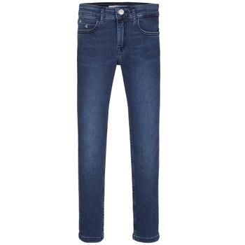 衣服 女孩 牛仔铅笔裤 Calvin Klein Jeans SKINNY ESS ROYAL BLUE 蓝色