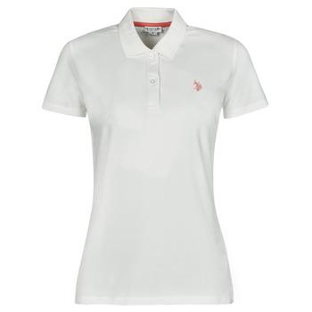 衣服 女士 短袖保罗衫 U.S Polo Assn. 美国马球协会 LOGO POLO SS 白色