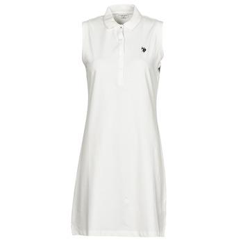 衣服 女士 短裙 U.S Polo Assn. 美国马球协会 AMY DRESS POLO SLEEVELESS 白色