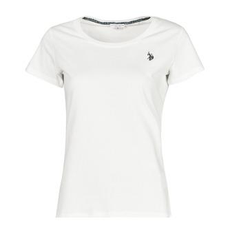 衣服 女士 短袖体恤 U.S Polo Assn. 美国马球协会 BELLA R NECK TEE SS 白色