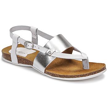 鞋子 女士 凉鞋 Kickers ANAGRAMI 白色 / 银色