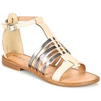 鞋子 女士 凉鞋 Kickers ETIKET 玫瑰色 / 金属银 / 银色