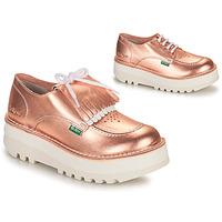 鞋子 女士 德比 Kickers KICKOUCLASS 玫瑰色 / 金属银