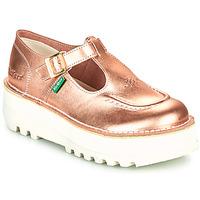 鞋子 女士 平底鞋 Kickers KICKOUSTRAP 玫瑰色 / 金属银