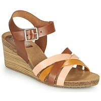 鞋子 女士 凉鞋 Kickers SOLYNIA 玫瑰色 / 棕色 / 黄色