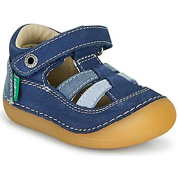 鞋子 男孩 凉鞋 Kickers SUSHY 蓝色