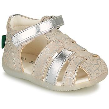 鞋子 女孩 凉鞋 Kickers BIGFLO-2 银灰色